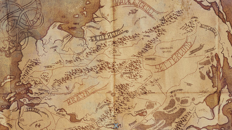 The Strand-Grofheim region of the world map.